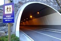 Tunnel avant de revenir à Arinsal.