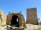 Le château de Saint Miquel despuis Girona