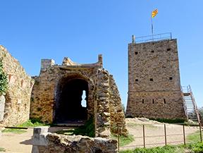 Le ch�teau de Saint Miquel despuis Girona