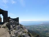 Ch�teau de Sant Salvador de Verdera depuis Sant Pere de Rodes