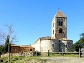 Église et dolmens de Fitor depuis Fonteta