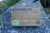 Panneau du Parc naturel de la vallée du Madriu-Perafita-Claror que nous trouvons au début du parcours.