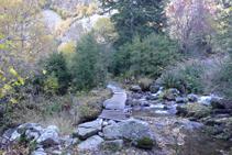 Petit pont sur la rivière de Perafita.