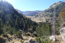 Vues de la tête de la vallée de Claror, vers laquelle nous nous dirigeons.