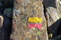 Marques jaunes et rouges du GRP.