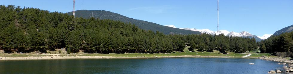 Lac d�Engolasters et chemin des Pardines