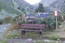 Croisement vers le refuge du Siscaró.