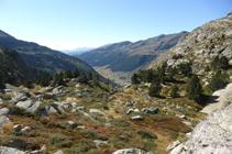 Vue de la vallée d´Incles depuis le belvédère de la Pleta de Juclar.