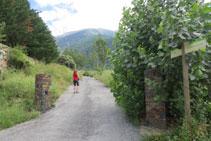Les premiers mètres du parcours sont faciles à parcourir sur du plat.