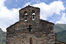 Le clocher de l´église Sant Serni de Nagol.