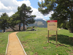 Itin�raire adapt� jusqu�au belv�d�re du Cap del Ras