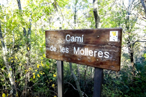 Déviation du chemin de Les Molleres.