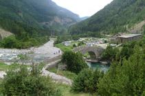 Pont de Bujaruelo et refuge de Bujaruelo.