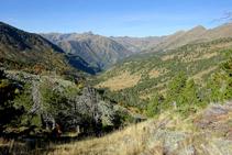 Point de vue de la vallée de Sorteny.