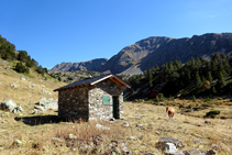 Cabane et Pleta de La Serrera.