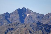 Massif de la Pica d´Estats : Pointe de Gabarró, Pica d´Estats, Verdaguer et Montcalm.