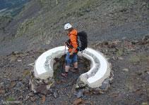 Table d´orientation située juste avant le col du Cap de La Coma.