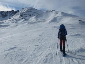 Pic de Pedrons (2715 m) depuis la fronti�re franco-andorrane