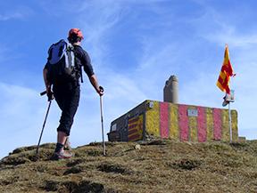 Puigsacalm (1515 m) et Puig dels Llops (1486 m) depuis Joanetes