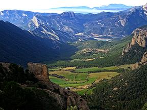 Serra Seca et le Pla de les Gu�rdies depuis Cambrils