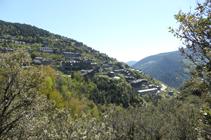 Vue sur Aixirivall depuis le chemin de La Solana.
