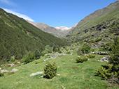 Vallée de Riqüerna et chemin de Rus depuis Capdella